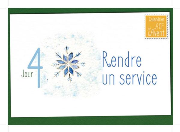 Carte postale Calendrier de l'Avent ACE