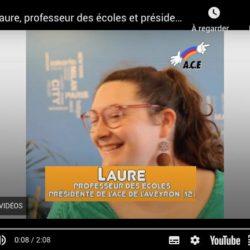 Laure présidente ACE 12