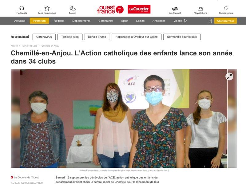 Clubs ACE - Action Catholique des enfants - Maine-et-Loire (49)