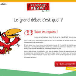 Site internet du Grand debat des 6-15ans