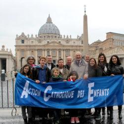 Voyage à Rome de l'Action Catholique des Enfants