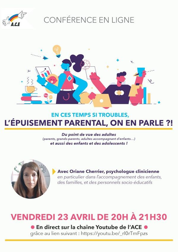 Conférence en ligne : « épuisement parental, on en parle ?! »